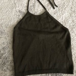Tops - Army green halter top